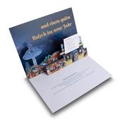 3D Pop-up-Karte mit Telefonkarte / Visitenkarte für Schausteller