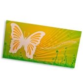 Design-Großpostkarte - Karte mit Türchen (Schmetterling)