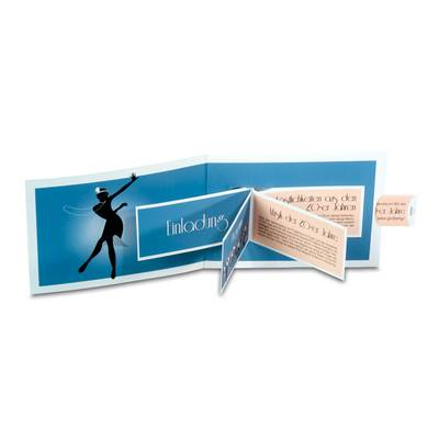 Effektkarte mit aufblätternder Broschüre