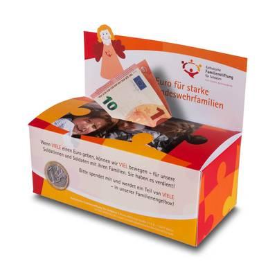 Spendenbox mit Rückwand