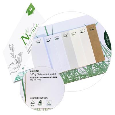 Natureline Papiermuster Fächer