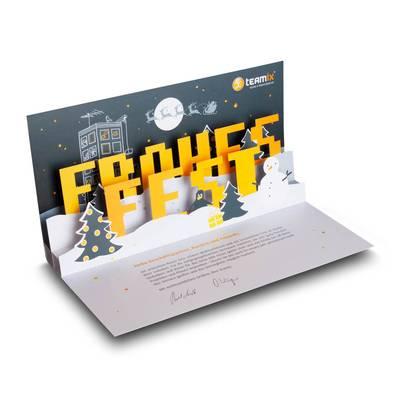3D Pop-up Karte DIN lang - Weihnachtskarte